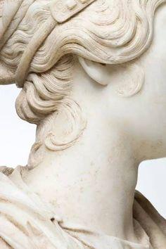 Portrait Bust of a Woman (detail), Roman, Antonine Period, AD sculpture Photo by Erika Dufour Potnia Theron, Art Sculpture, Bernini Sculpture, Roman Sculpture, Metal Sculptures, Abstract Sculpture, Bronze Sculpture, Beige Aesthetic, Aesthetic Art
