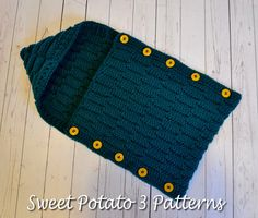 Ravelry: Button Up Waves Hooded Cocoon by Christins from My Sweet Potato 3