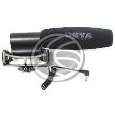 Micrófono unidireccional de la marca BOYA modelo BY-VM02. Se trata de un micrófono direccional de condensador para cámaras de vídeo o cámaras de fotografía que permitan la captura de vídeos profesionales. Formato tipo pistola con conector universal hot-shoe para fijar a zapata de flash de cámara de fotos o vídeo.