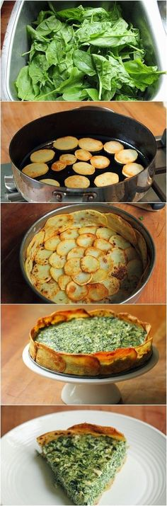 Spinach and Spring Herb Torta Recipe Ingredients 3 large russet potatoes (about 600 g, 1 ¼ pound) about 2 tbsp olive oil 350 g s...