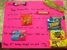 Birthday poster diy friends signs 61 new ideas Birthday Wishes For Boyfriend, Birthday Presents For Mom, 30th Birthday Gifts, Birthday Crafts, Boy Birthday Parties, Grandpa Birthday, Birthday Stuff, Mom Birthday, Candy Bar Gifts