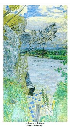La Seine pres de Vernon by Pierre Bonnard Pierre Bonnard, Paul Gauguin, Kandinsky, Landscape Art, Landscape Paintings, Arte Van Gogh, French Artists, Love Art, Painting Inspiration