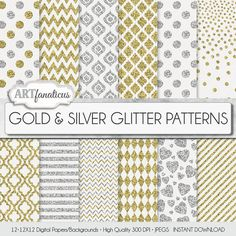 Gold silver glitter paper Gold & Silver Glitter by Artfanaticus My backgrounds, textures, digital paper and clip art can be used for just about any project. Add some additional artistic style to your photo albums, photography projects, photographs, scrapbooking, weddings, invitations, greeting cards, gift wrap, labels, stickers, tags, signs, business cards, websites, blogs, party decor, jewelry & more. For more digital papers, please visit Artfanaticus at: http://artfanaticus.etsy.com