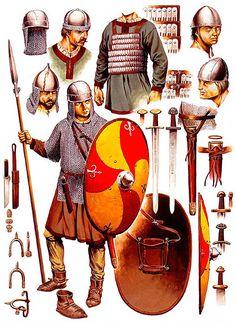 """Arms and armour of a post-Carolingian cavalryman, 10th century"", Wayne Reynolds"