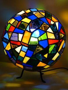 Lampe vitrail boule