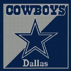 Dallas Cowboys Afghan Crochet Pattern Graph, $5.00.....Pattern now available in MS Excel Format for easier following. More patterns available soon in this easier format!!!