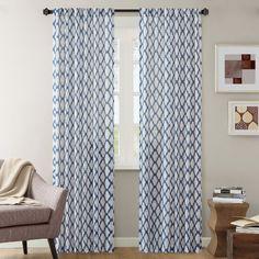 Found it at Joss & Main - Becky Ikat Trellis Rod Pocket Single Curtain Panel