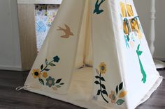 Teepee tent kids play - Reg size by moozlehome on Etsy