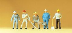 Preiser Kg Railroad Personnel - Track Workers -- HO Scale Model Railroad Figures -- #14017