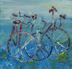 "ORIGINAL Oil Painting on Canvas, ""Bicycle Garden"", by Elizabeth Briggs.  #Expressionism"