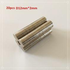 20Pcs N52 Strong Ndfeb Magnets Bulk Super Round Disc Rare Earth Neodymium Magnet 12mm x 2mm #men, #hats, #watches, #belts, #fashion