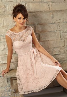 Bridesmaids Dresses Style 725: Lace http://www.morilee.com/bridesmaids/bridesmaids/725