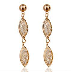 Luxury Rose Gold Plated Dangle Earrings Newest Arrival Luxury Rose Gold Plated Dangle Earrings For Wedding Women Zircon Crystal Brand Jewelry.