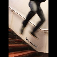 Somebody jumping down the stairs!!!