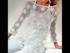 Risultati immagini per blusas tejidas Crochet Round, Cute Crochet, Crochet Lace, Crochet Bikini, Stitch Patterns, Sewing Patterns, Crochet Patterns, Crochet For Beginners, Learn To Crochet