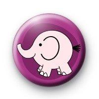 Cute Pink elephant Button badges