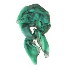 Malachite print modal-cashmere scarf by Lauren Spencer King
