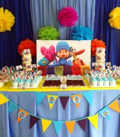 Venue: Grand Villa Hotel Pateros Let's Go Pocoyo is the theme of little Nate's Birthday. The backdrop, balloon and table decors with Pocoyo and h. 1st Boy Birthday, Birthday Diy, 2nd Birthday Parties, Birthday Party Decorations, Krishna Birthday, Birthday Design, Baby Party, First Birthdays, Party Ideas