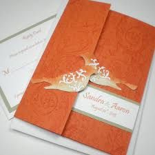 Image result for wedding invitations burnt orange and gold