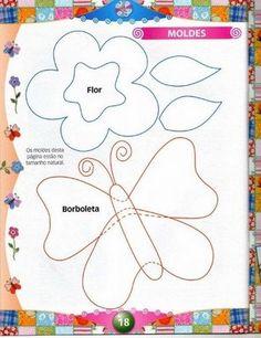 Maripê: Moldes e riscos de borboletas