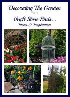 Decorating The Garden With Thrift Store Finds {Time With Thea}