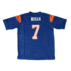 The Alex Moran  7 Blue Mountain State football jersey. The name and numbers  are ca69ce3a4