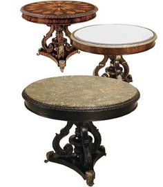 neoclassical tables in tesselated stonemaitland smith | modern