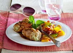 Low Carb Rezepte: Chicken Rollatini mit Frischkäse-Minze-Füllung