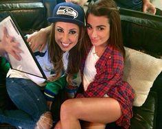 Lea Michele and Hannah Lux Davis