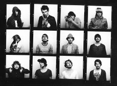 Contact sheet of a roll of self-portraits. December 2013.