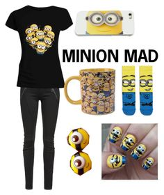 """""""minion mad"""" by oxkyaxo ❤ liked on Polyvore featuring Letitia and ASOS"""