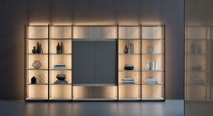 TV wall system CONTINUUM | Storage wall - Natevo