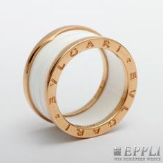 "BVLGARI current ladies ring ""B ZERO 1"" Ceramic / GR 18K. Ring size 58 MINT! Original price € 1100,- starting price € 780,-"