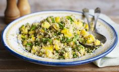 Bring some sunshine to your plate with a quinoa, mint and mango salad.