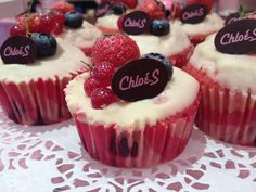 Charlotte : cupcake fruits rouges chocolat blanc