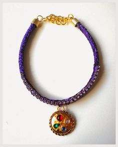 Handmade Jewelry Rg: Necklace circle of purple
