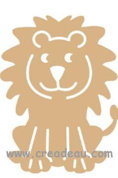 Leeuw 24 x 18 cm x 2 mm