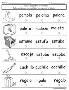 Printing Education For Kids Printer Spanish Learning Activities Free Printable Spanish Lessons For Kids, Spanish Basics, Teaching Spanish, Learn Spanish, Speech Language Therapy, Speech And Language, Spanish Language, Reading Assessment, Learning Sight Words