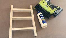 DIY Mini Ladder - Tea Towel Holder Small Ladder, Diy Ladder, Quilt Ladder, Diy Blanket Ladder, Towel Hanger, Towel Racks, Wooden Diy, Tea Towels, Mini