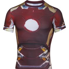5ab36fa42e66 Under Armour Alter Ego Iron Man Compression Shirt LG Maroon