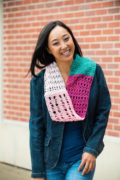 Southwestern Sunset Sampler Scarf