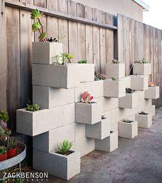 easy garden cinder block wall