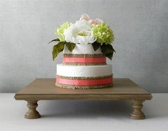 Cake Stand Square Cupcake Dessert Rustic Wooden Vintage Fall Wedding By E. As Featured In Martha Stewart Weddings Square Wedding Cakes, Wedding Cake Stands, Cool Wedding Cakes, Square Cupcakes, Square Cake Stand, Wedding Reception Seating, 16 Cake, Vintage Fall, Vintage Country