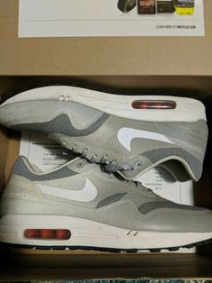 61f3651e88d050 Nike Air Max 1 Hyperfuse Mens Shoes Size 10 Rare Sneakers 543213 Matte  Silver  fashion