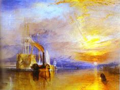 By J.M. William Turner - The Fighting Temeraire Tugged to Her Last Berth to Be Broken Up.