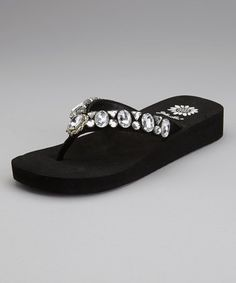Take a look at this Black Latisha Flip-Flop by Yellow Box Shoes on #zulily today!