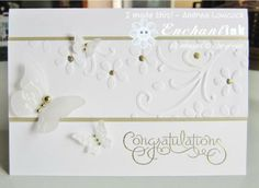 Handmade Congratulations Card ... Stampin' Up! - Well Scripted Wedding ... BLOG: EnchantINK