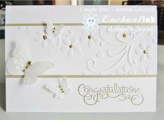 Handmade Congratulations Card ... Stampin' Up! - Well Scripted Wedding ... BLOG: EnchantINK