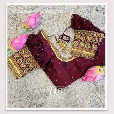Blouse Back Neck Designs, Best Blouse Designs, Bridal Blouse Designs, Saree Blouse Designs, Designer Blouse Patterns, Work Blouse, Pattern Design, Maggam Works, Blouses
