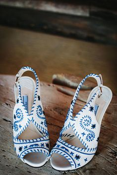 If you can believe it, these shoes aren't even the most beautiful part of this wedding
